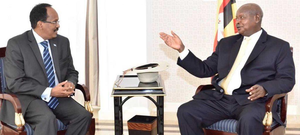 Somalia President Mohamed Abdullahi Farmajo Visits Uganda