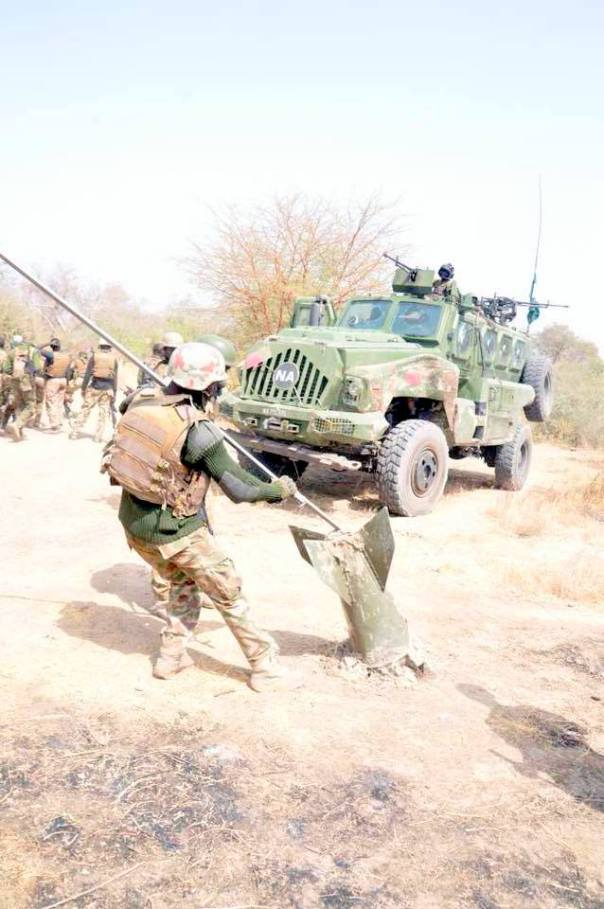 Nigerian Army Destroy Boko Haram Camp, Recover Military Tank